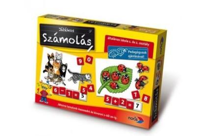 Noris 6076341 - Játékos számolás oktató társasjáték