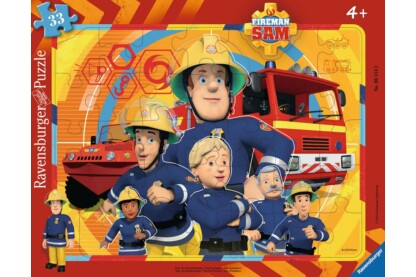 Ravensburger 06114 - Sam, a tűzoltó - Sam és csapata - 33 db-os keretes puzzle
