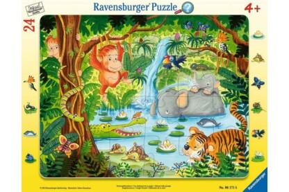 Ravensburger 06171 - A dzsungel állatai - 24 db-os keretes puzzle