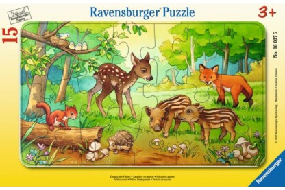 Ravensburger 06376 - Erdei állatok - 15 db-os keretes puzzle