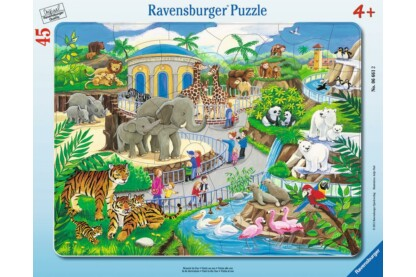 Ravensburger 06661 - Állatkerti látogatás - 45 db-os keretes puzzle