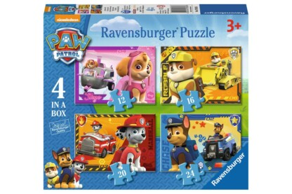 Ravensburger 07033 - Mancs őrjárat - 4 az 1-ben (12, 16, 20, 24 db-os) puzzle