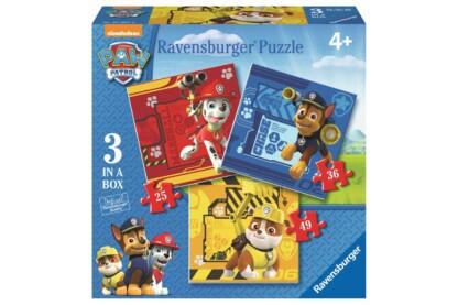 Ravensburger 07057 - Mancs őrjárat - 3 az 1-ben (25,36,49 db-os) puzzle