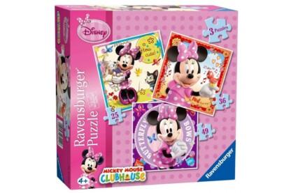 Ravensburger 07244 - Minnie Mouse - 3 az 1-ben (25,36,49 db-os) puzzle