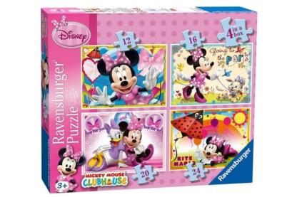 Ravensburger 07255 - Minnie Mouse - 4 az 1-ben (12, 16, 20, 24 db-os) puzzle