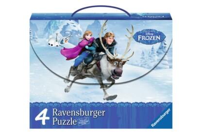 Ravensburger 07300 - Jégvarázs - 4 az 1-ben puzzle kofferben