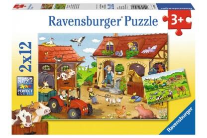 Ravensburger 07560 - A farmon - 2 x 12 db-os puzzle