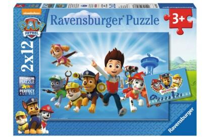 Ravensburger 07586 - Mancs őrjárat - 2 x 12 db-os puzzle