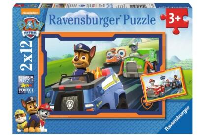 Ravensburger 07591 - Mancs őrjárat -  2 x 12 db-os puzzle