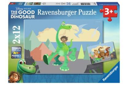 Ravensburger 07595 - Dínó tesó - 2 x 12 db-os puzzle