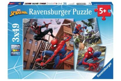 Ravensburger 08025 - Pókember kalandjai - 3 x 49 db-os puzzle