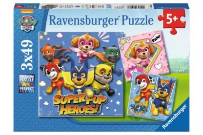 Ravensburger 08036 - Mancs őrjárat - Szuper Mancsok - 3 x 49 db-os puzzle