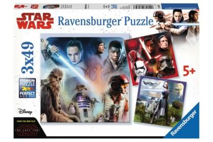 Ravensburger 08039 - Star Wars VIII - Az utolsó Jedik - 3 x 49 db-os puzzle