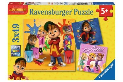 Ravensburger 08044 - Alvin és a mókusok - 3 x 49 db-os puzzle