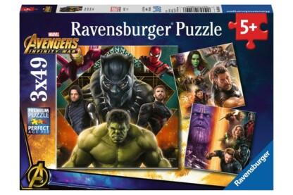 Ravensburger 08049 - Avengers - Bosszúállók - Végtelen háború - 3 x 49 db-os puzzle
