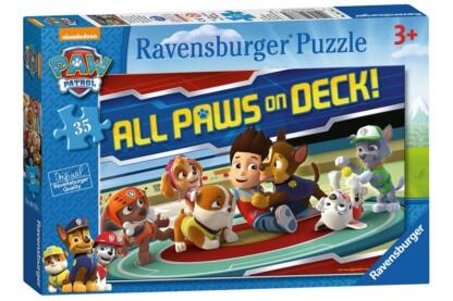 Ravensburger 08776 - Mancs őrjárat - Mancsok a fedélzeten - 35 db-os puzzle