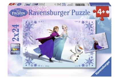Ravensburger 09115 - Jégvarázs - Nővérek - 2 x 24 db-os puzzle