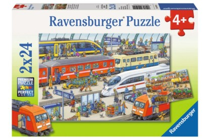 Ravensburger 09191 - Az állomáson - 2 x 24 db-os puzzle