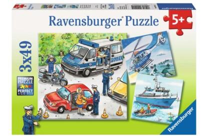 Ravensburger 09221 - Rendőrök - 3 x 49 db-os puzzle