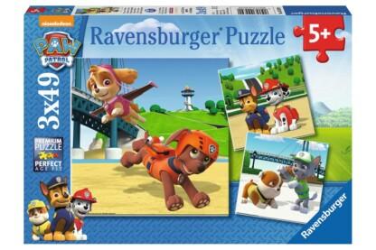Ravensburger 09239 - Mancs őrjárat - 3 x 49 db-os puzzle
