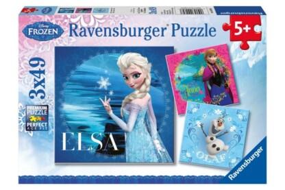 Ravensburger 09269 - Jégvarázs - Elsa, Anna és Olaf - 3 x 49 db-os puzzle