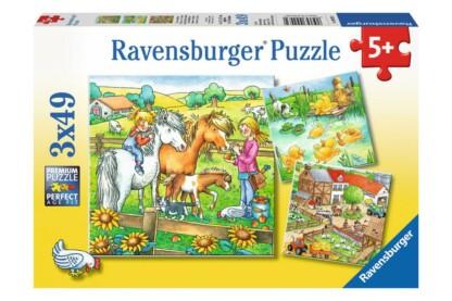 Ravensburger 09293 - Élet a farmon - 3 x 49 db-os puzzle