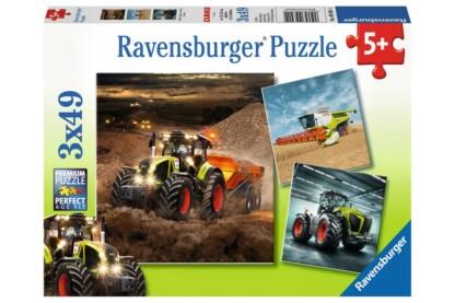 Ravensburger 09301 - CLAAS traktorok - Axion, Lexion, Xerion - 3 x 49 db-os puzzle