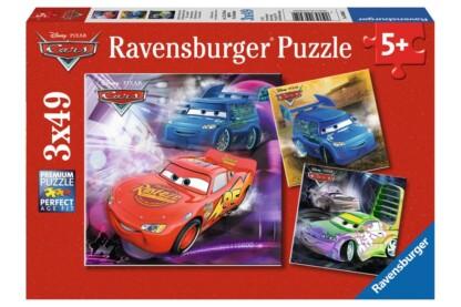 Ravensburger 09305 - Verdák - A versenypályán - 3 x 49 db-os puzzle