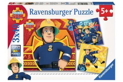 Ravensburger 09386 - Sam, a tűzoltó - 3 x 49 db-os puzzle