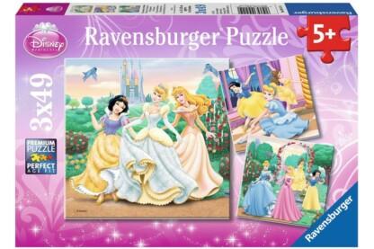 Ravensburger 09411 - Disney Princess - Hercegnők álma - 3 x 49 db-os puzzle