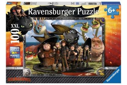 Ravensburger 10549 - Így neveld a sárkányodat - 100 db-os XXL puzzle