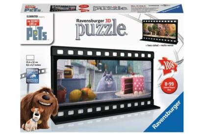 Ravensburger 11212 - A kis kedvencek titkos élete - Chloe filmszalag - 108 db-os 3D puzzle