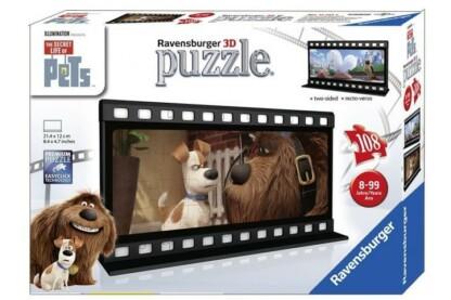 Ravensburger 11213 - A kis kedvencek titkos élete - Max és Duke filmszalag- 108 db-os 3D puzzle