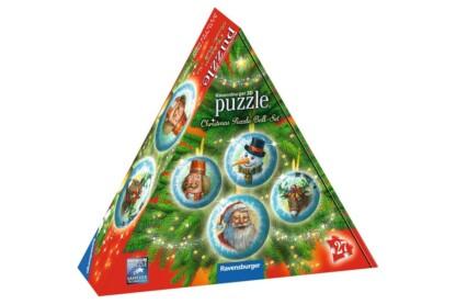 Ravensburger 11678 - Karácsonyi gömb szett - 4 x 27 db-os 3D gömb puzzle