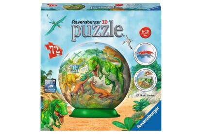 Ravensburger 11838 - Dinoszauruszok - 72 db-os 3D gömb puzzle