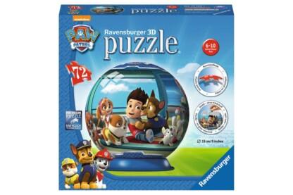 Ravensburger 12186 - Mancs őrjárat - 72 db-os 3D gömb puzzle