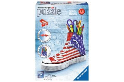 Ravensburger 12549-  Tornacipő USA - 108 db-os 3D puzzle