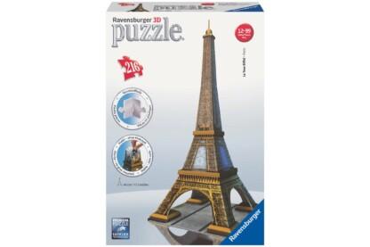 Ravensburger 12556 - Eiffel-torony - Párizs - 216 db-os 3D puzzle