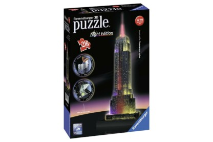 Ravensburger 12566 - Night Edition - Empire State Building - 216 db-os 3D puzzle