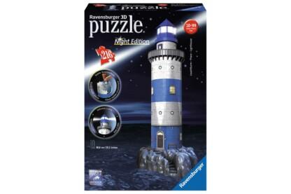 Ravensburger 12577 - Night Edition - Világítótorony - 216 db-os 3D puzzle