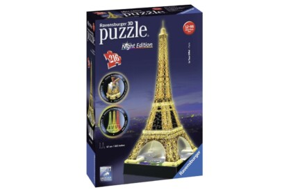 Ravensburger 12579 - Night Edition - Eiffel-torony - 216 db-os 3D puzzle