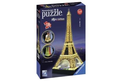 Ravensburger 12579 - Night Edition - Eiffel-torony - 216 db-os 3D puzzle