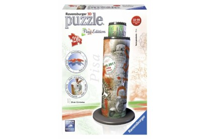 Ravensburger 12581 - Flag Edition - Pisai ferde torony - 216 db-os 3D puzzle