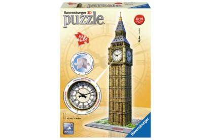Ravensburger 12586 - Big Ben valódi órával - 216 db-os 3D puzzle