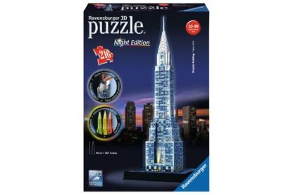 Ravensburger 12595 - Night Edition - Chrysler Building - 216 db-os 3D puzzle