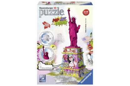 Ravensburger 12597 - Pop Art Edition - Szabadság szobor - 108 db-os 3D puzzle