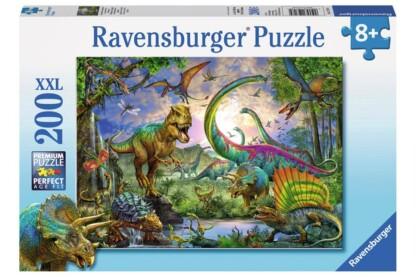 Ravensburger 12718 - A dinoszauruszok birodalmában - 200 db-os XXL puzzle