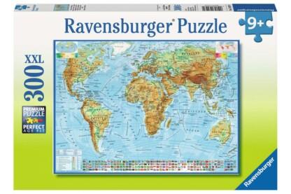 Ravensburger 13097 - Politikai világtérkép - 300 db-os XXL puzzle