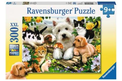 Ravensburger 13160 - Állatpajtik - 300 db-os XXL puzzle