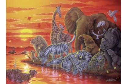 Ravensburger 14288 - Naplemente Afrikában - 500 db-os puzzle
